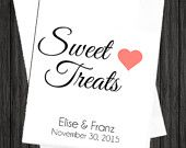 WKB12 - Sweet Treats Wedding Favor Candy Bags, Sweet Treats Wedding Bags, Sweet Treats Favor Bags, Sweet Treats Candy Bags, Wedding Favor