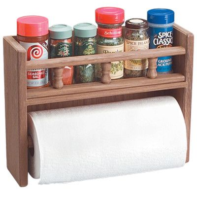 WhitecapIndustries Spice Rack with Paper Towel Holder