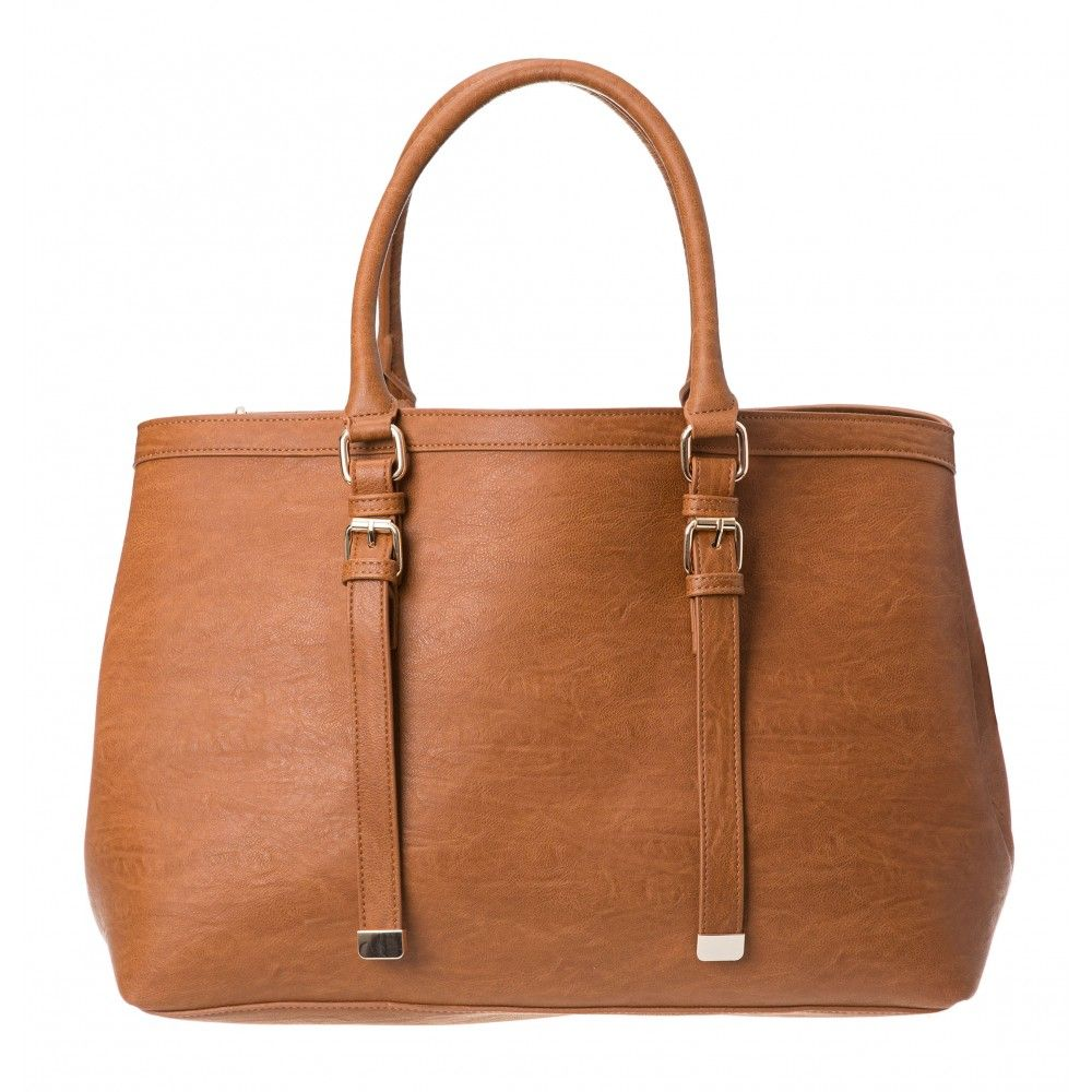 fa15b27adef9 Kylie Buckle Detail Tote in TAN colette by colette hayman