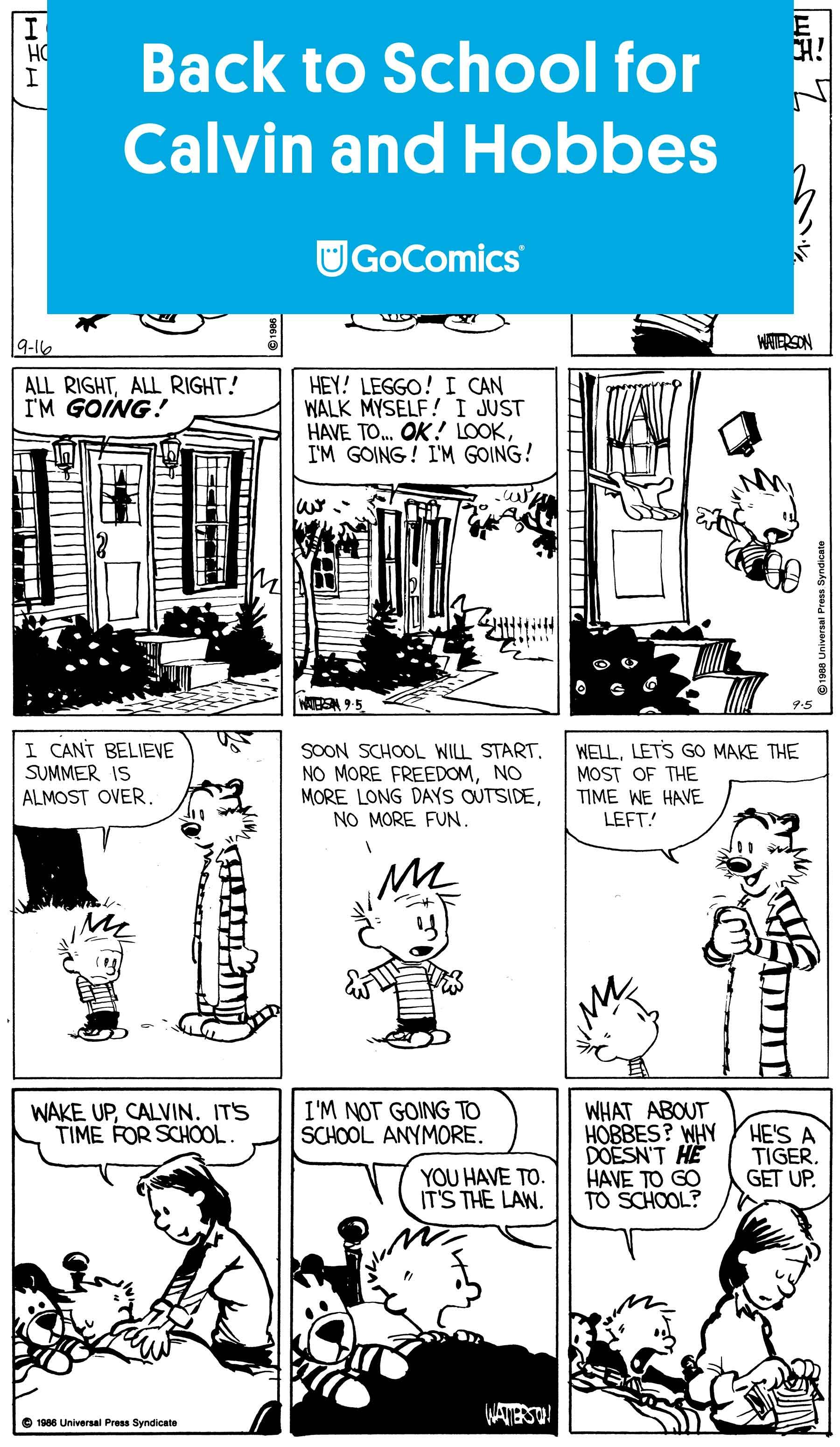 Back To School For Calvin And Hobbes Comics