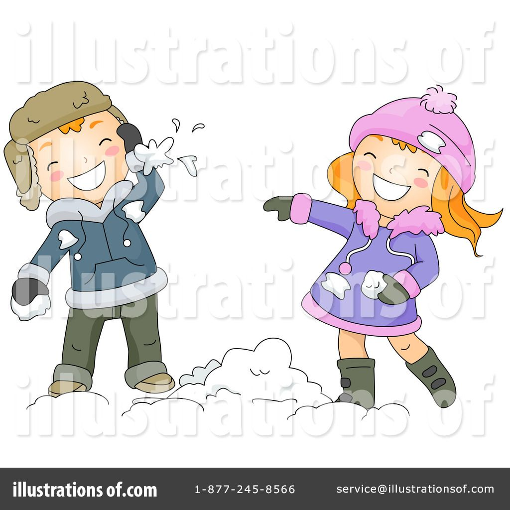 snowball fight clipart 434677 by bnp design studio royalty free rf rh pinterest com Animated Snowball Fight Animated Snowball Fight