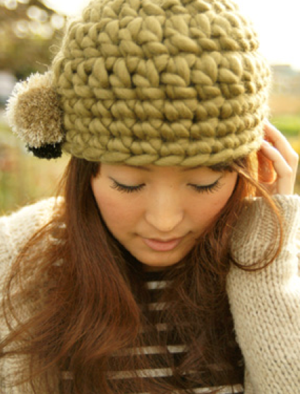 gorro con lana gruesa con patrón japo!!  30ca1e2abb76