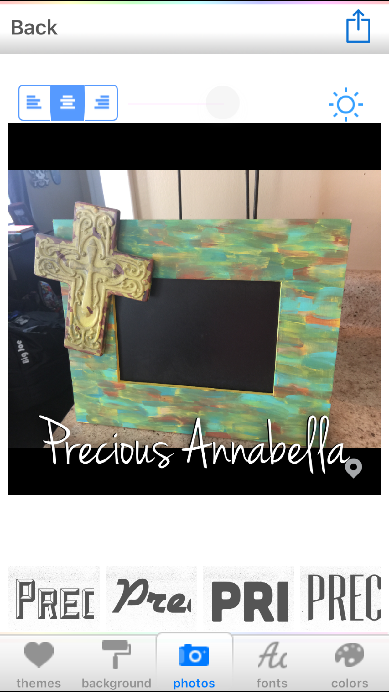 Hand Painted frame $15