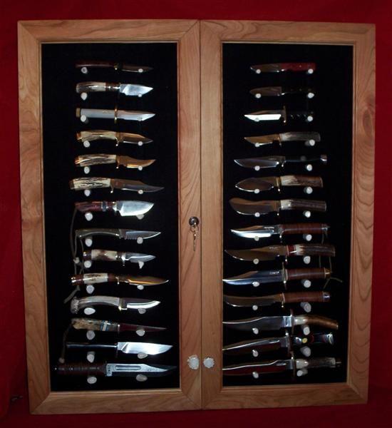 Messervitrine Messeraufbewahrung Cool Knife Cabinet Taschenmesser Schaukasten Bogen Selbermachen Anleitungen Basteln