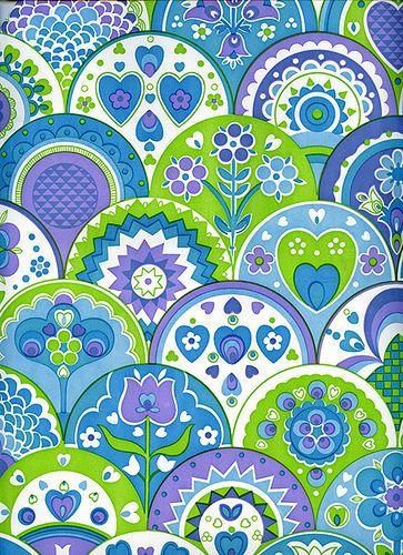 Pattern Motif Abstrak Lukisan Bunga