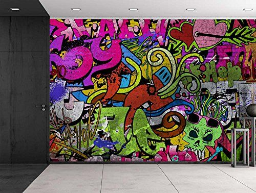 Wall26 Colorful Graffiti Large Wall Mural Removable Https Www Amazon Com Dp B01lyor6lg Ref Cm Sw R Large Wall Murals Wall Murals Bedroom Wall Murals