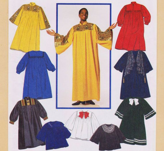 Choir Robe Graduation Gown Pattern Factory Folded Unused All Sizes ...