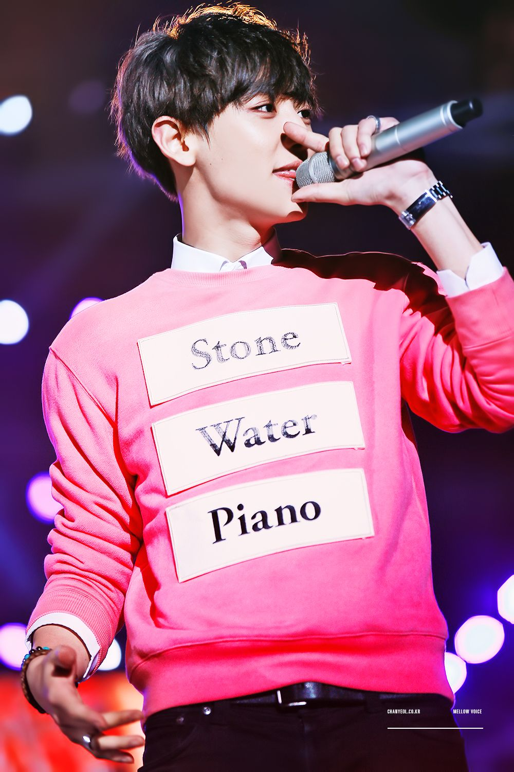 Chanyeol - 150328 KBS Music Bank in Vietnam Credit: A Mellow Voice ...