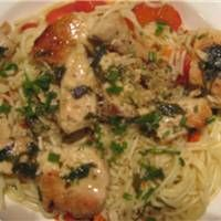 Grilled Chicken Scampi Style With Angel Hair Pasta Recipe On