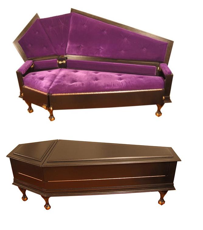 Coffin Couch Vonerickson Coffin Couch  Deadly Furniture Design  Pinterest