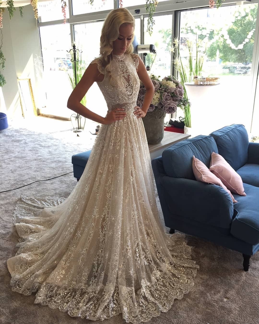 b0eb675d3679 The  GALA 803 is made of  sequin embossed tulle in Ivory and Diamond Silver  shades.  GLfitting  salonisabell
