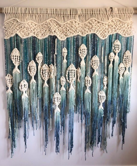 MACRAME FISH WALL HANGING Unfettered Co specializes in handmade modern fibre art and innovative macrame statement pieces designed to fill your home with warmth, whimsy, and dimension. CREATION STORY: I was born in NFLD and my extended family still lives there, so its a place that I feel very
