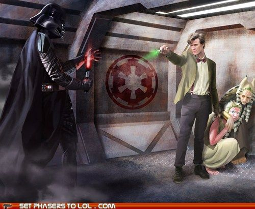 Star Wars and Doctor Who crossover Sonic Screwdriver Beats Lightsaber