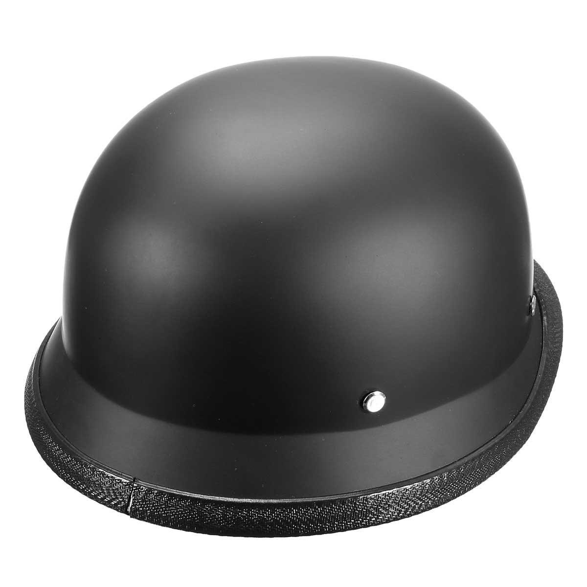 Abs Plastic Motorcycle Helmet Motorcross Capacete Half Helm Retro Matte Black In 2020 Helmet Motorcycle Helmets Matte Black