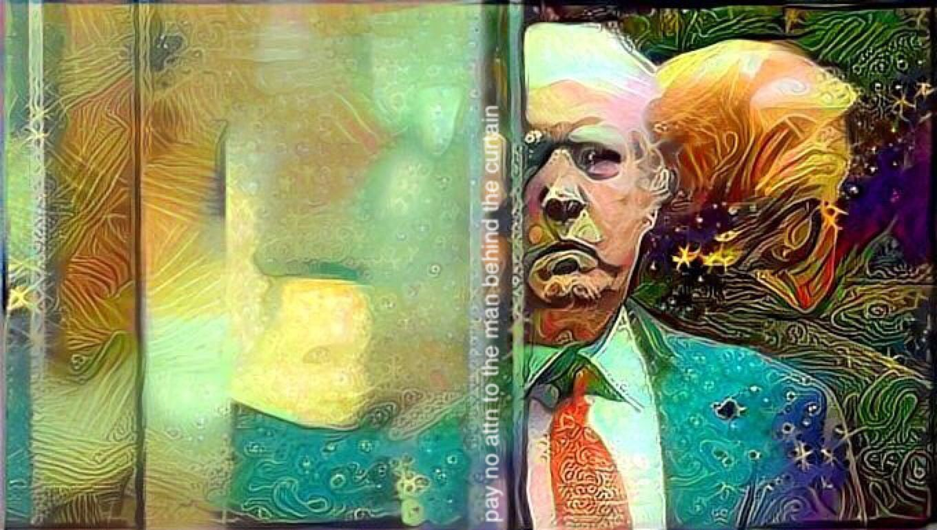 Pay No Attention To The Man Behind The Curtain Trump Art