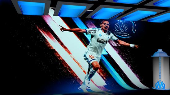 Om Thauvin Olympique De Marseille Logo Om Et Fond Ecran