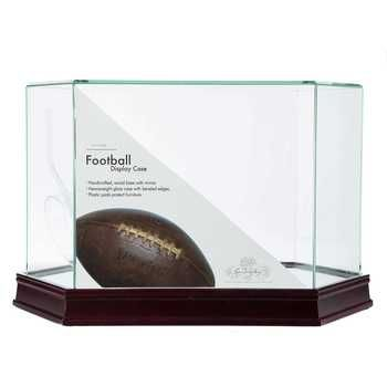 Medium Oak Glass Mirrored Football Case With Images Football