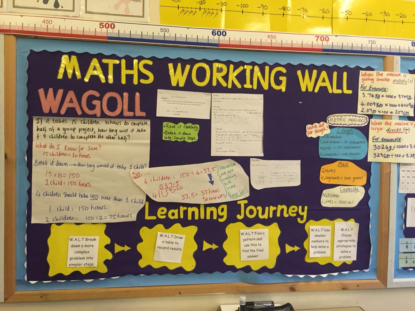 Maths Working Wall (y6 not mine) | Maths working wall | Pinterest ...
