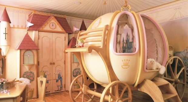 Princess Rooms Are Getting Seriously Elaborate Cinderella Bed