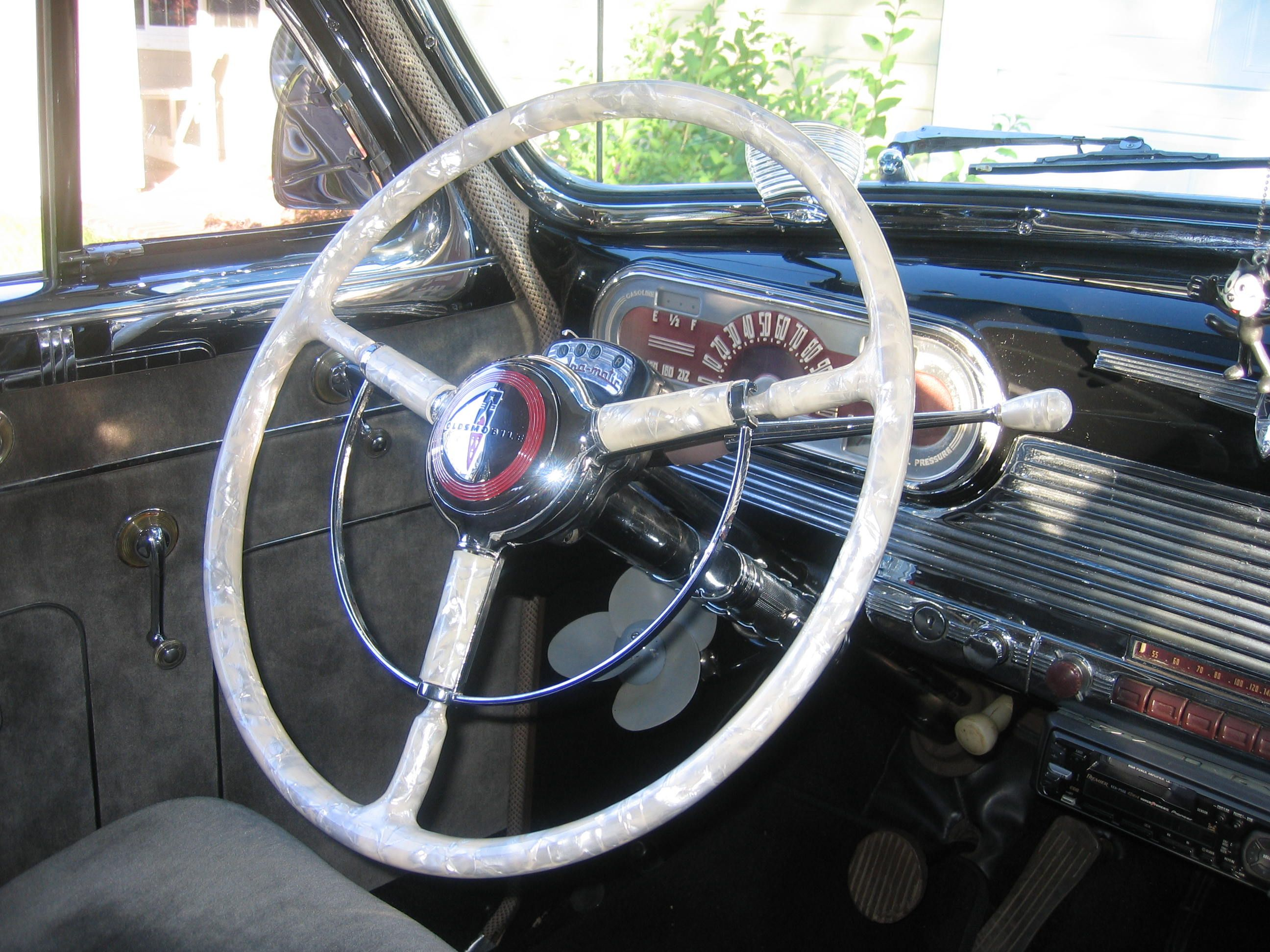 1941 Oldsmobile Wheel In Ivory Pearl Steering Artistry Club Coupe