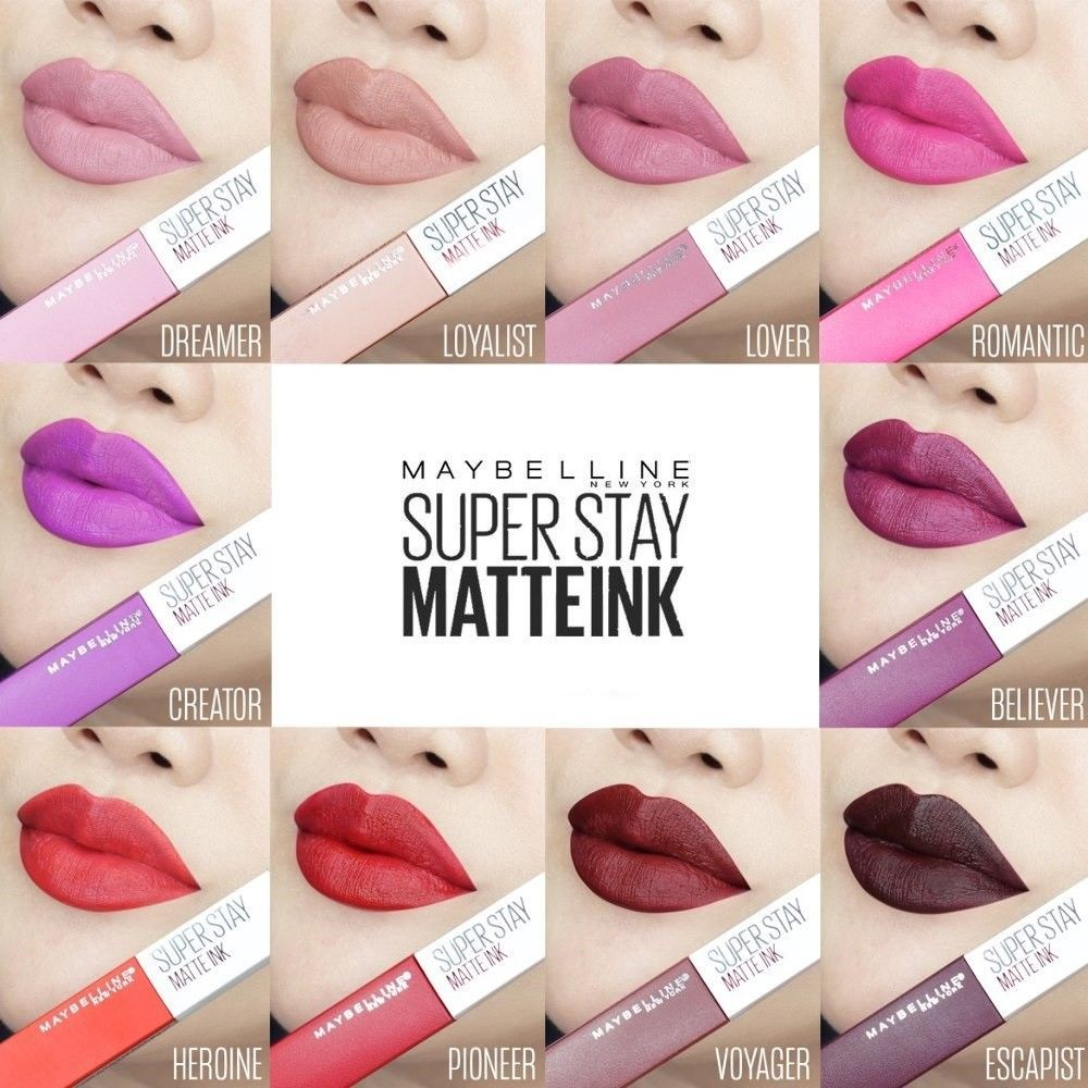 Details about MAYBELLINE SUPERSTAY 24 MATTE INK LIPSTICK 5ml