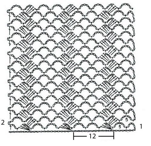 Схема узора крючком 6