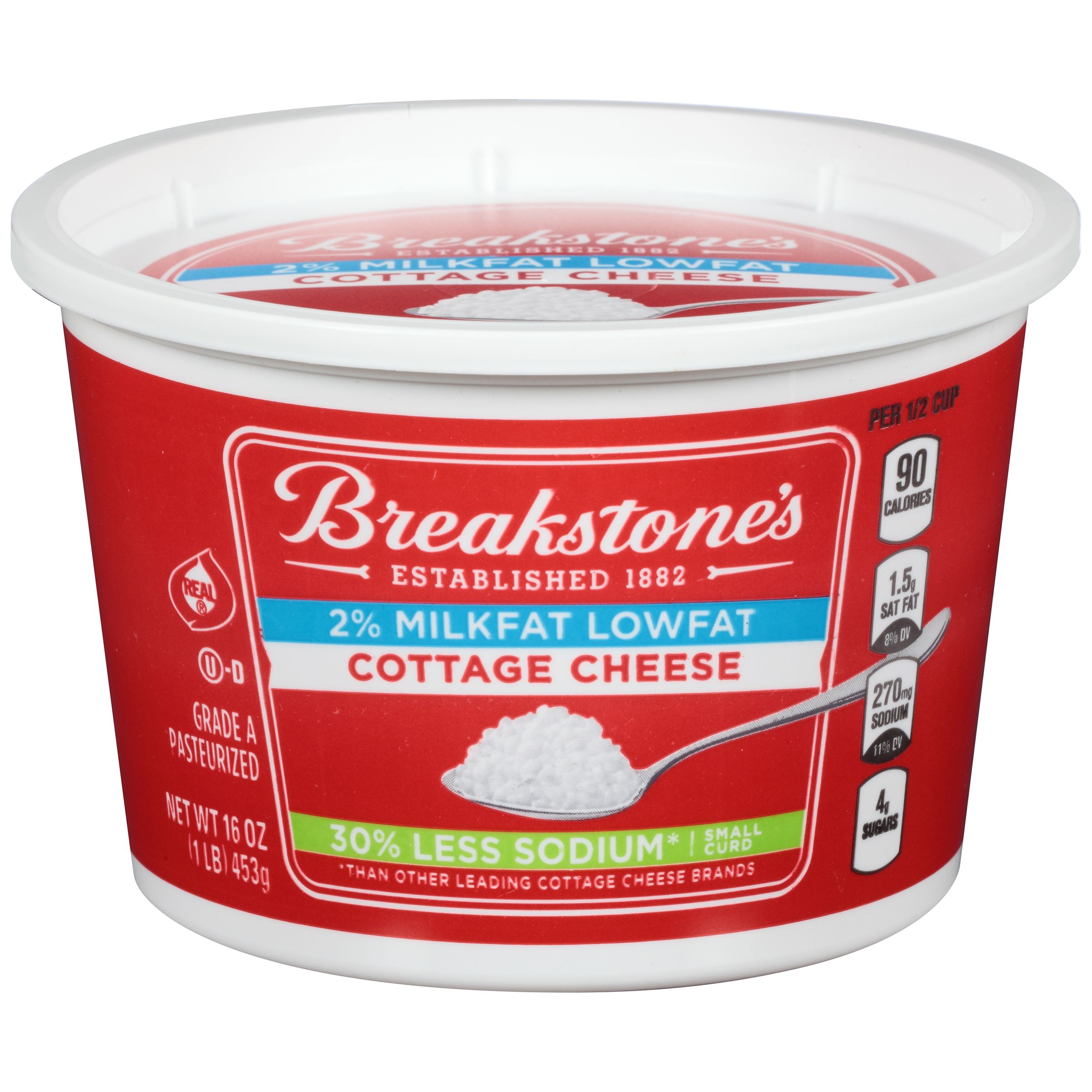 An Excellent Source Of Protein Breakstones Cottage Cheese Helps To Satisfy Your Hunger Breakstone Cottage Cheese Cottage Cheese Cheese