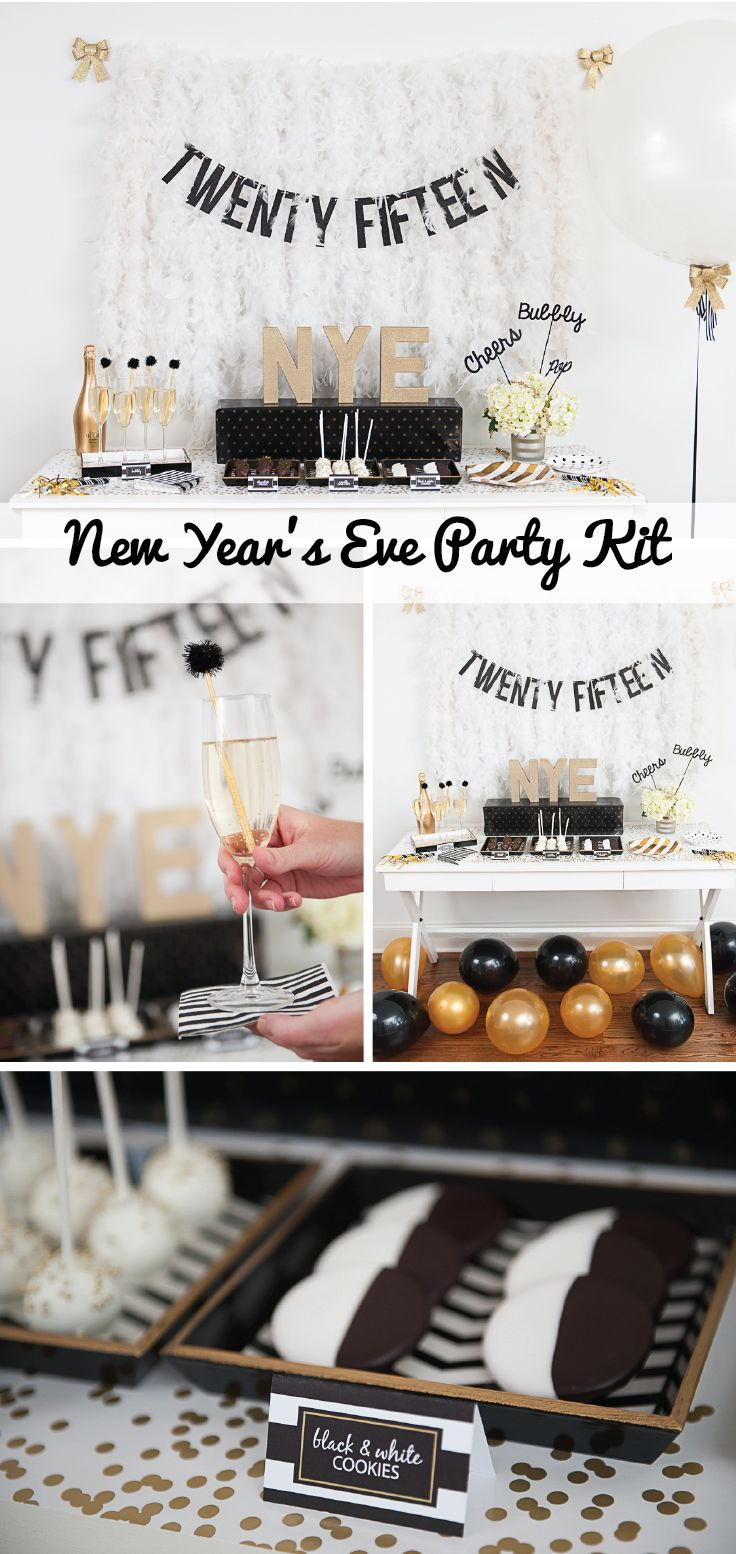 New Year\'s Eve Mini Holiday Kit | Nye party, Party kit and Nye