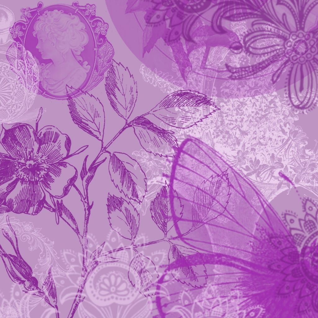 Free Printable Scrapbook Paper Designs Purple