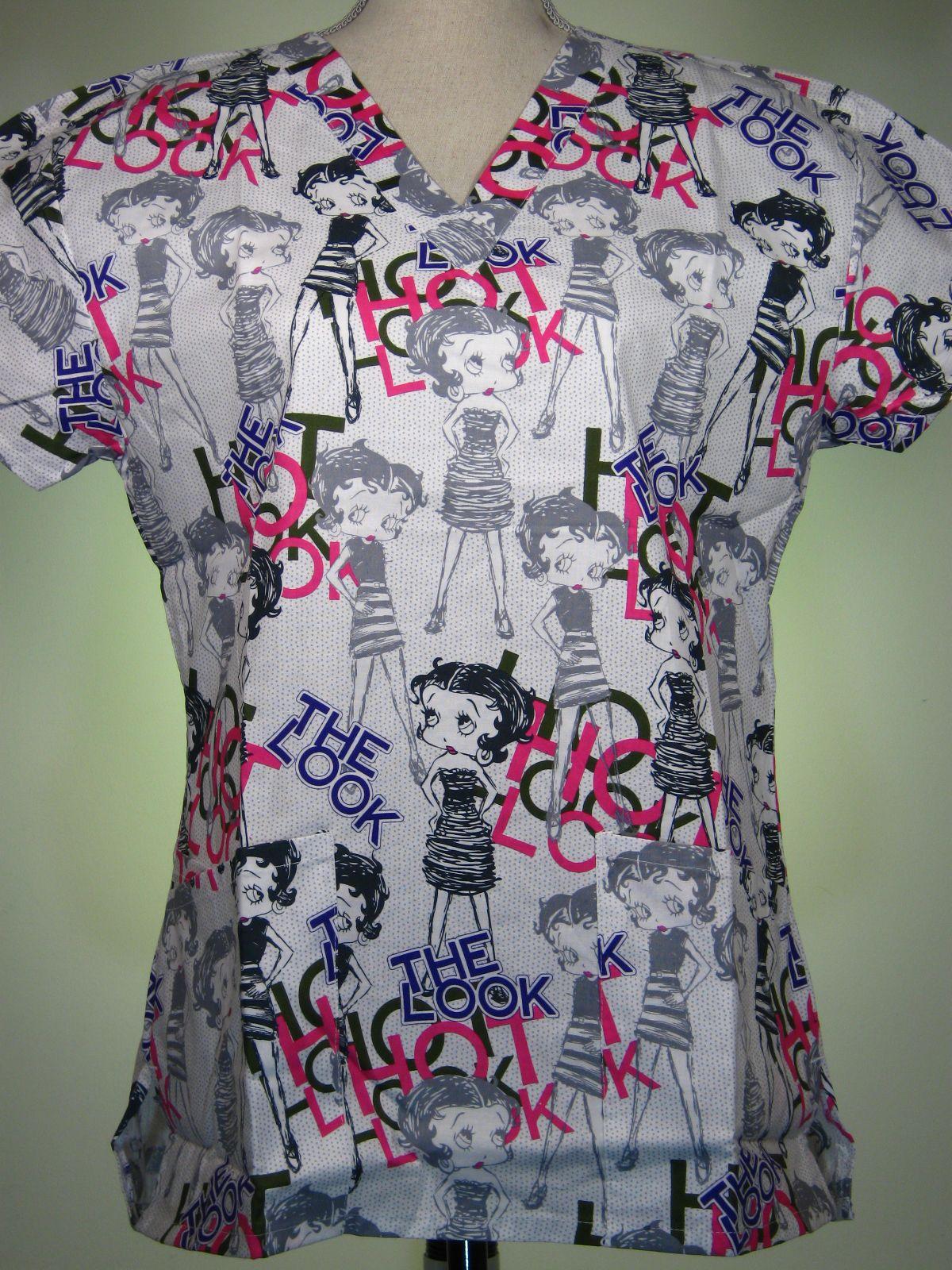 808fa1267ff #caringplus scrub top - Betty Boop, the hot look - CaringPlus scrubs and  uniforms
