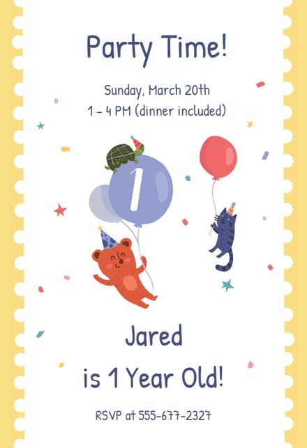 Free 1st Birthday Invitation Templates Greetings Island - First - free first birthday invitations templates