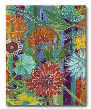 Whimsical Flower II Wrapped Canvas