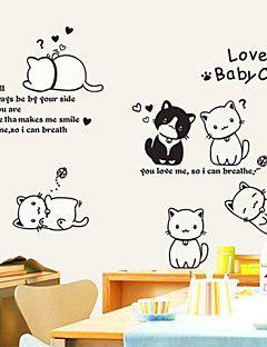 Wall Stickers Veggdekor, herlige katter, hunder, venner pvc vegg klistremerker