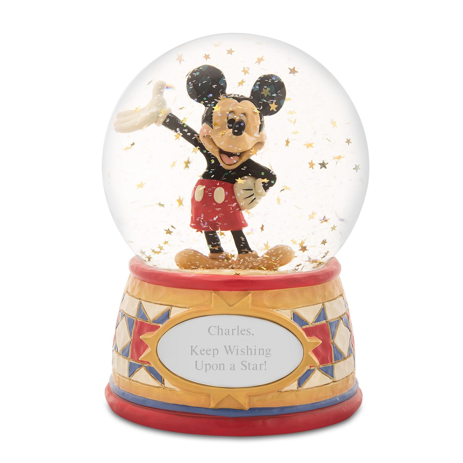 Jim Shore Disney Traditions Mickey Mouse Snow Globe Disney Traditions Snow Globes Mickey Mouse