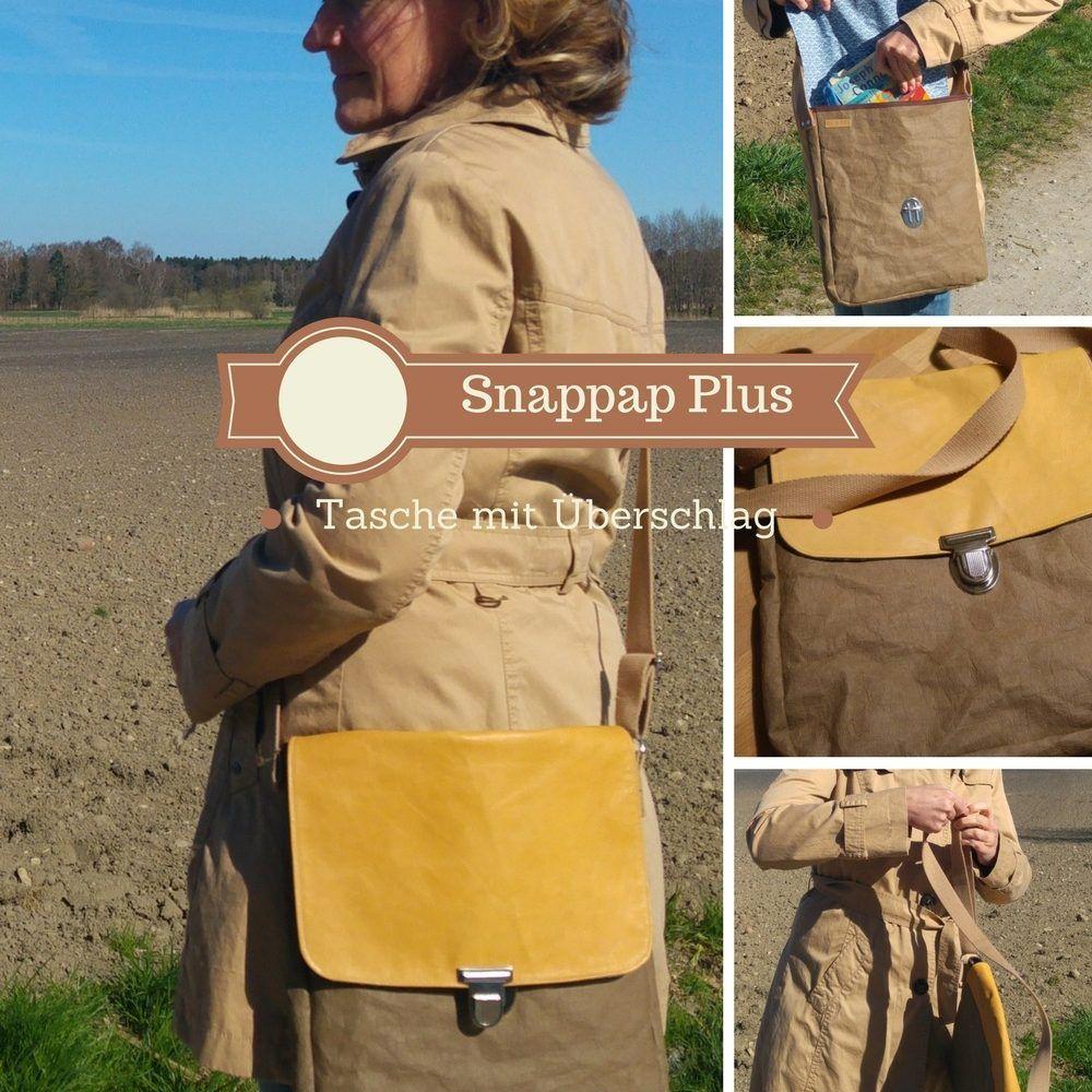 Tasche aus Snappap mit Lederhenkel | Nähe, Leder und Anleitungen