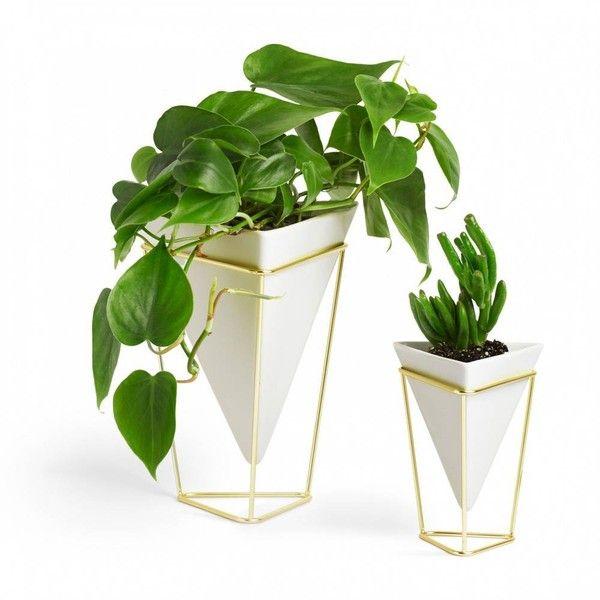 umbra trigg vase set of 2 white brass by 40 â liked on