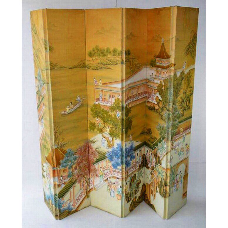 Antique chinoiserie screen  Parker Kennedy Living