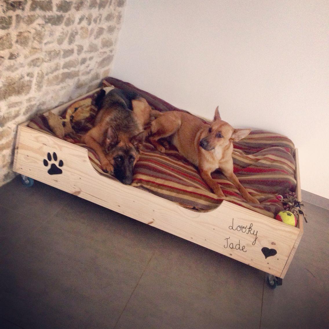 lit pour chien fait maison id es pour charlie pinterest lit chien chien et niche chien. Black Bedroom Furniture Sets. Home Design Ideas