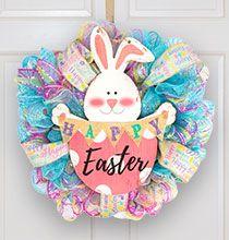 Photo of Easy Easter Deco Mesh Wreath Tutorial | The Dollar Tree Blog