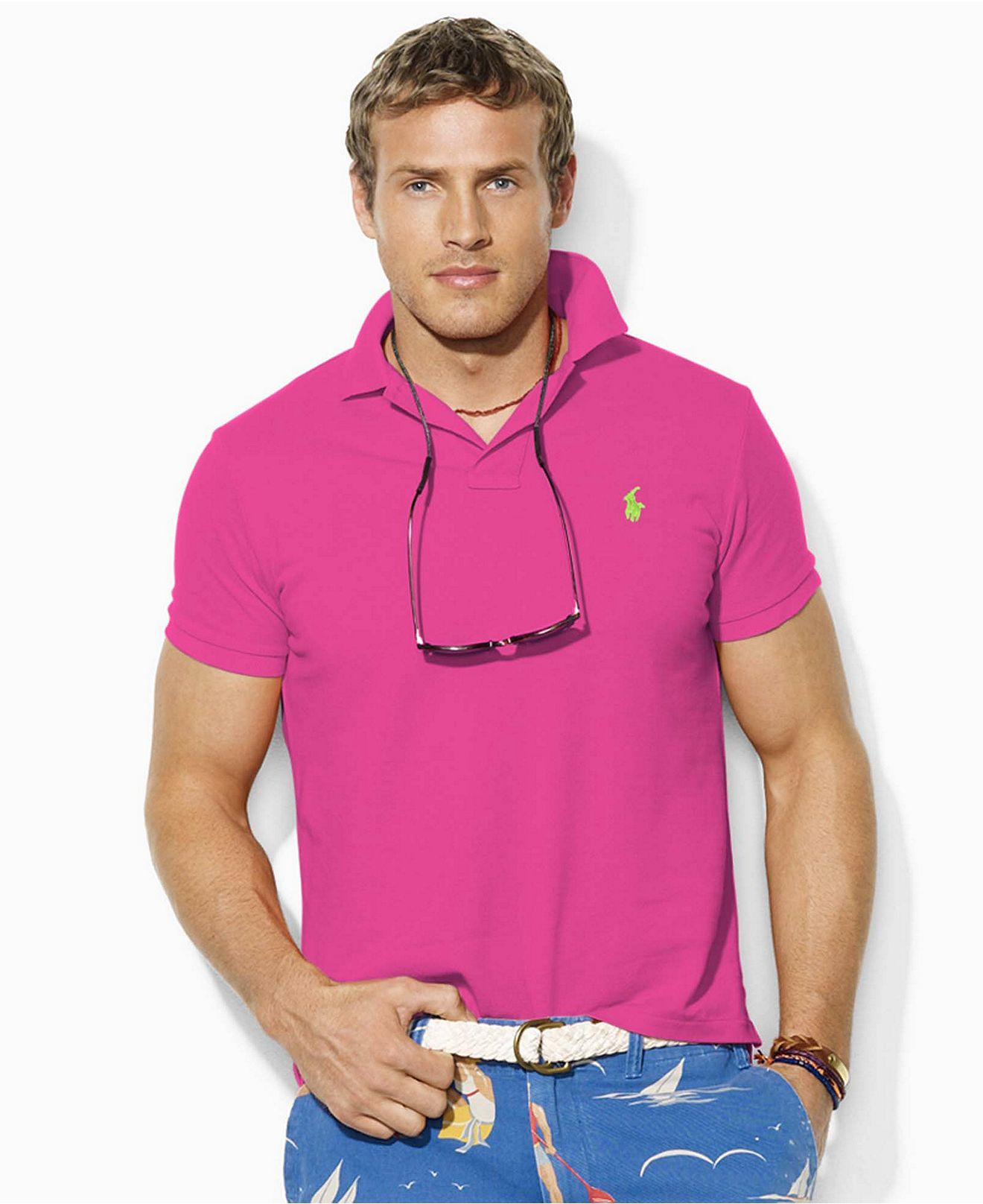Whats Hotter The Grand Prix Pink Ralph Lauren Polo With Lime Green
