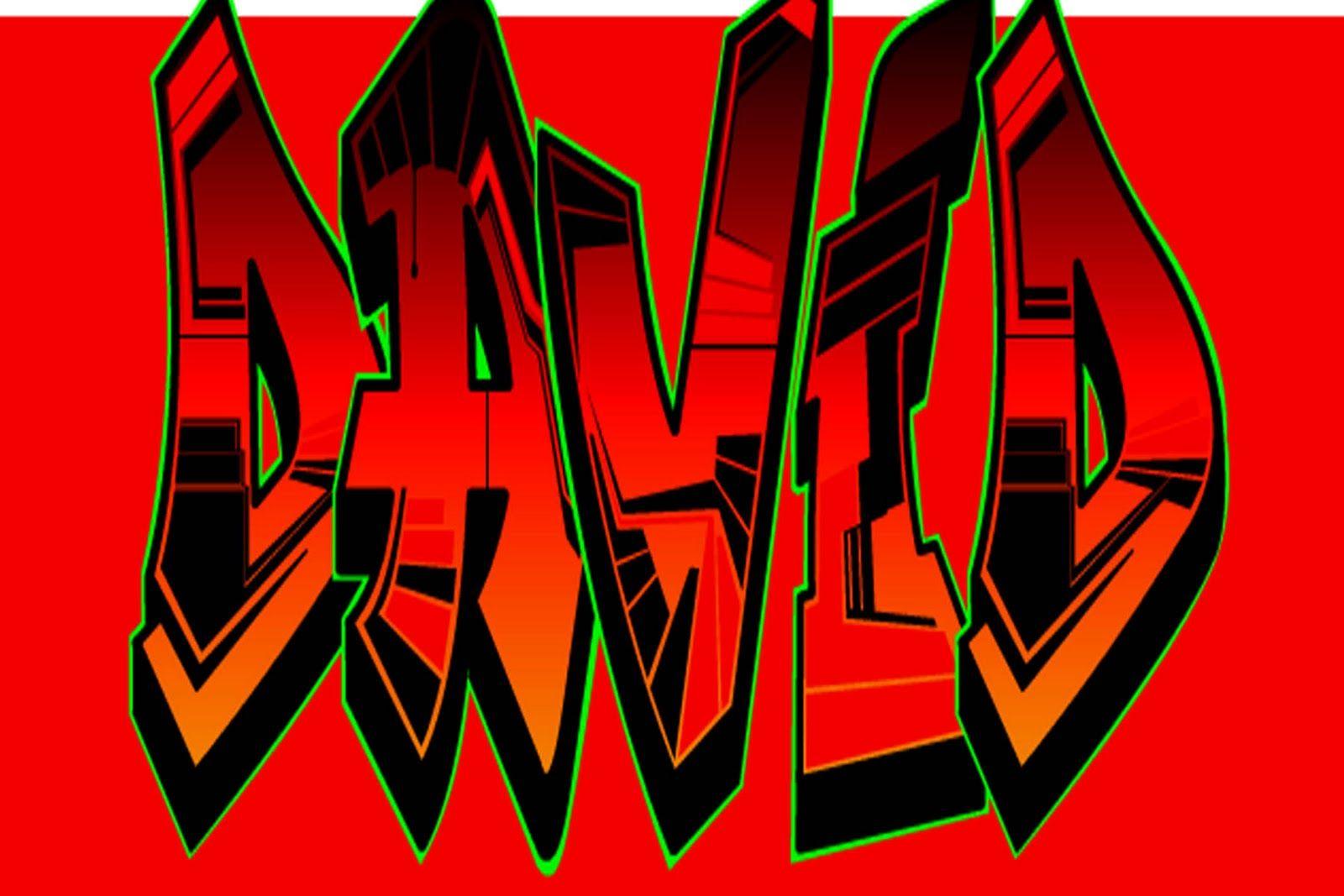 The Name David In Funny Graffiti Style Bubble Fonts Gl Stock Images Graffiti Lettering Graffiti Creator Graffiti