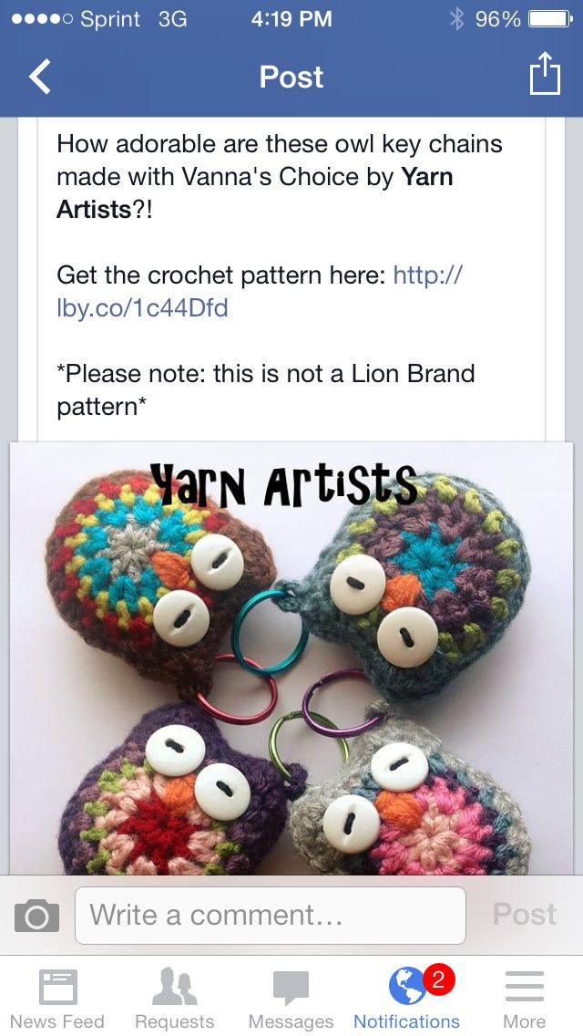 Crochet Owl Keychains