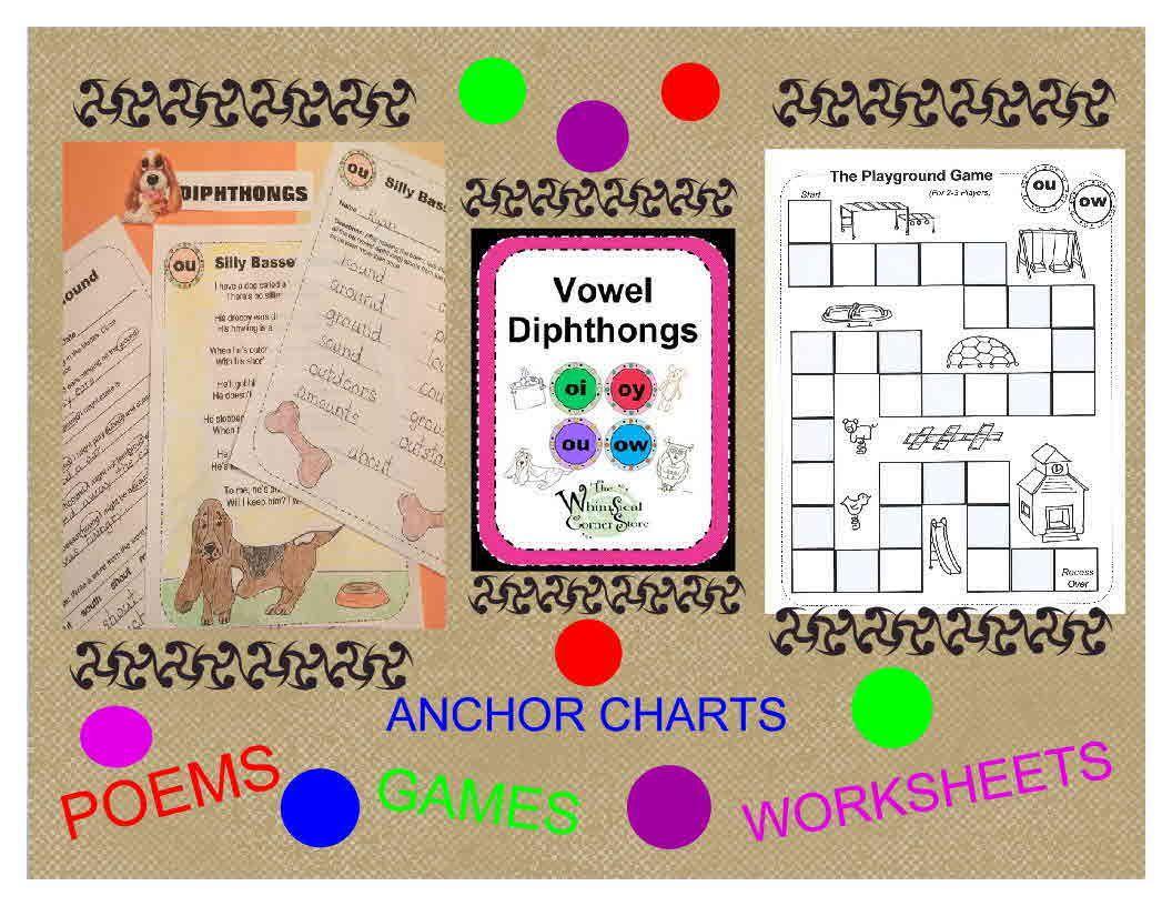 Vowel Diphthongs Original Poems Worksheets And Game