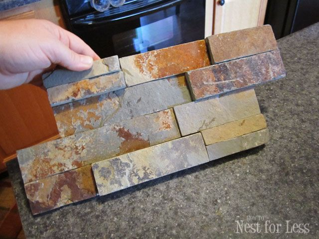 Stone Kitchen Backsplash How To Nest For Less Stone Backsplash Kitchen Stone Kitchen Diy Backsplash