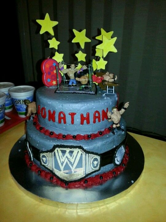 WWE Birthday Cake Recipes Pinterest Wwe birthday cakes Wwe