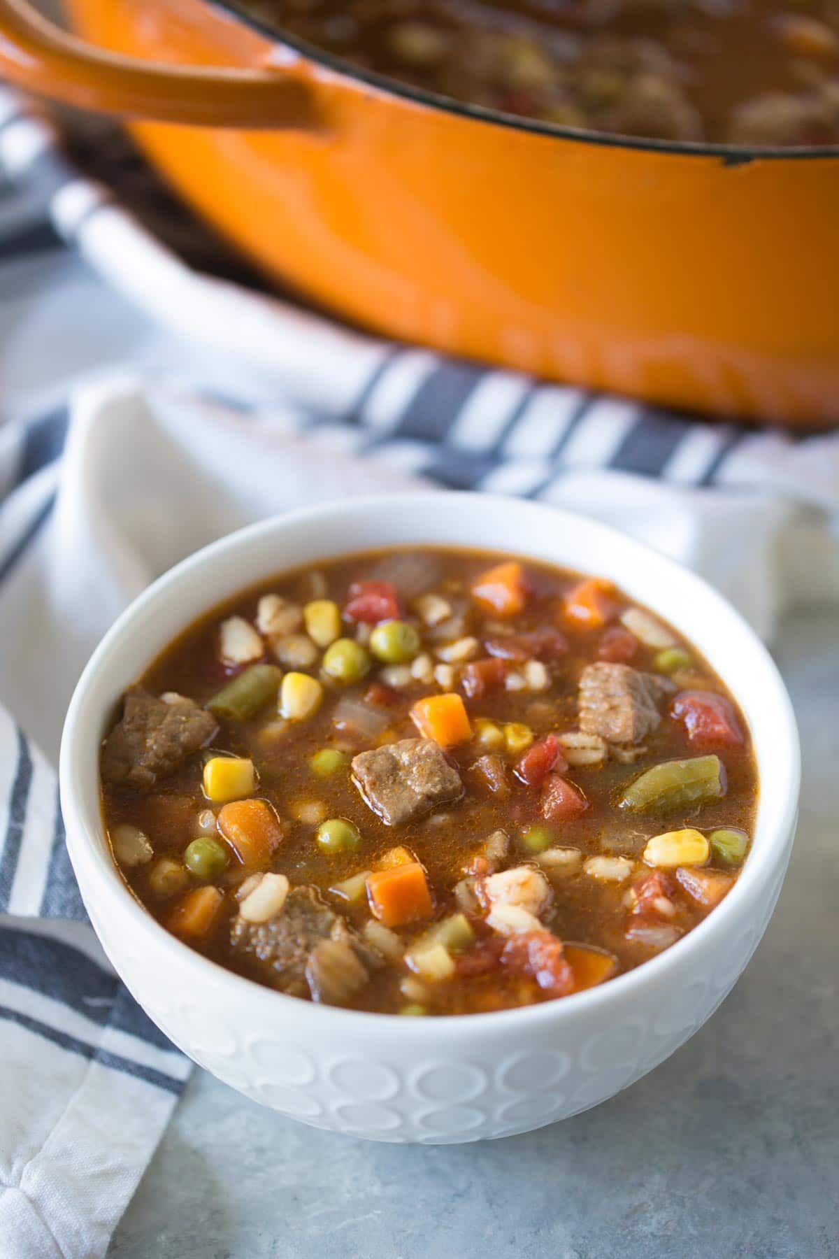 Vegetable Beef Barley Soup Easy Dairy Free Simply Whisked Recipe Vegetable Beef Barley Soup Beef Barley Soup Barley Soup
