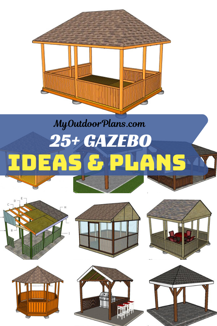 This Is A Free Collection Of Free Gazebo Design Ideas And Step By Step Plans This Gazebo Is Built On A Sturdy Structure And The Gazebo Plans Gazebo Diy Gazebo