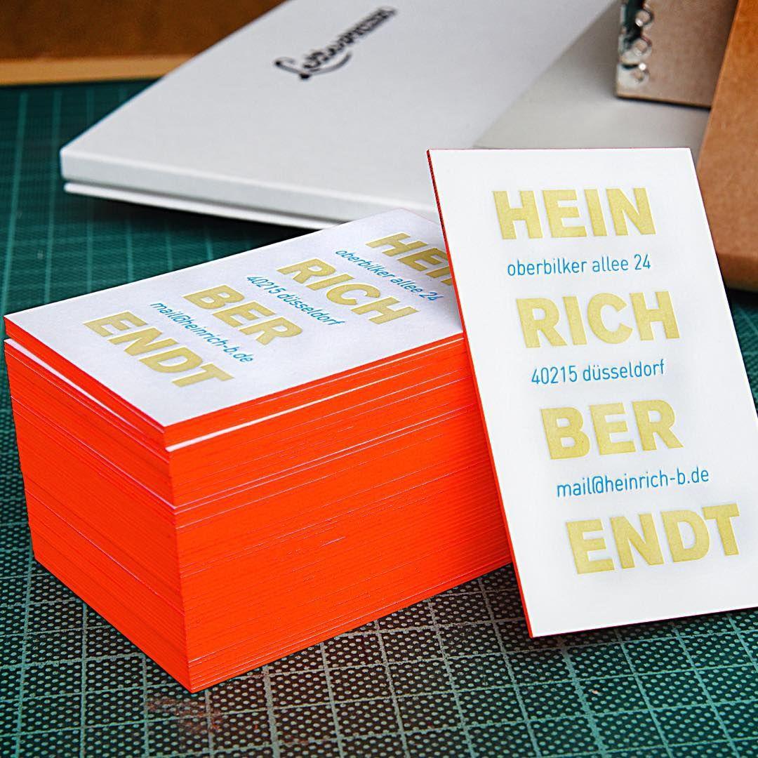 Letterpress Visitenkarten Heute Auf Dem Verpackungstisch