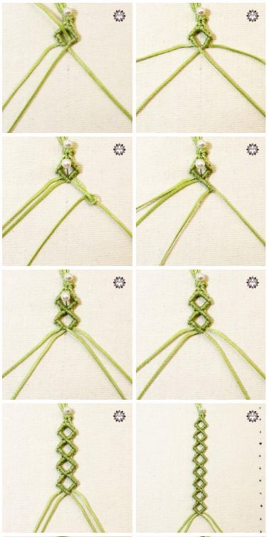 Micro-macrame friendship bracelet photo tutorial Macramee