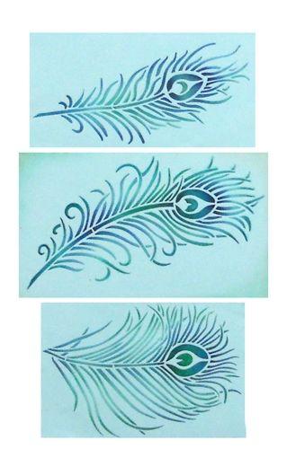 Peacock Feather Cake Stencil Set Designer Stencils dibujo